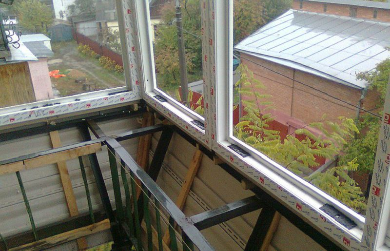 Материалы для выноса остекления балкона своими руками..